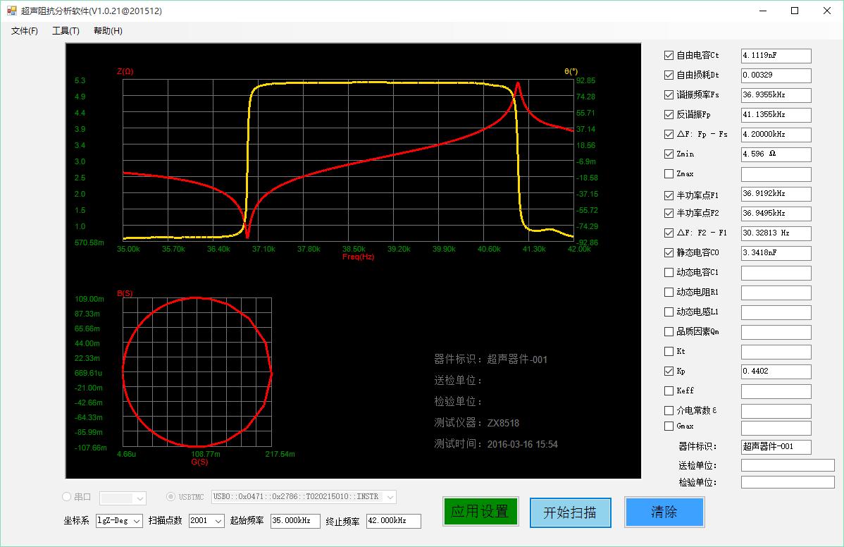 致新ZX70A超声阻抗分析仪
