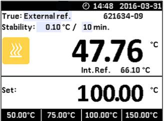 设定温度—Jofra CTC660A干体炉