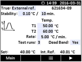 预设温度—Jofra CTC660A干体炉