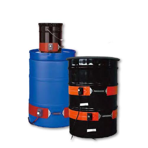 BriskHeat重型硅橡胶圆桶/提桶加热器